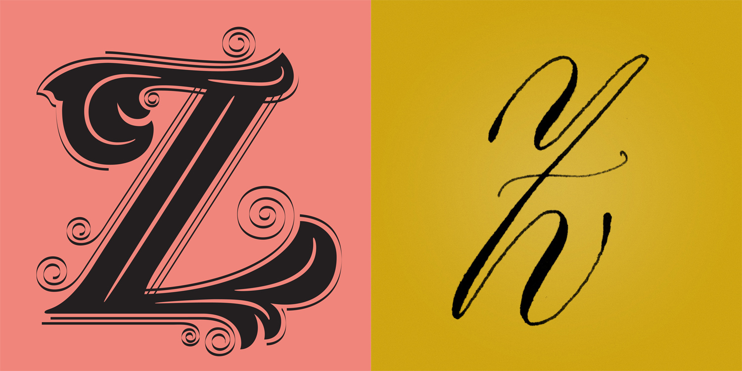 Classic Z Lettering Calligraphy