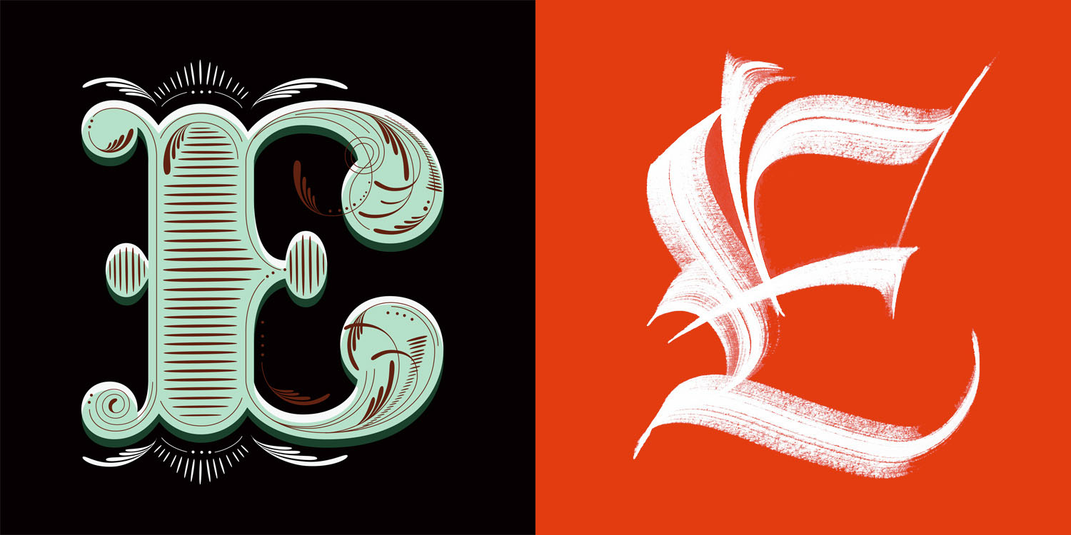 Hedonist E Lettering Vs Calligraphy